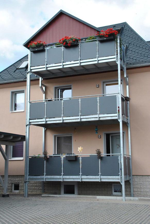 Balkon bei Bauschlosserei Prüfer